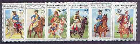 Sahara Republic 1997 Military Uniforms (on horseback) complete perf set of 6 unmounted mint