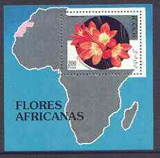 Sahara Republic 1994 Flowers perf m/sheet unmounted mint