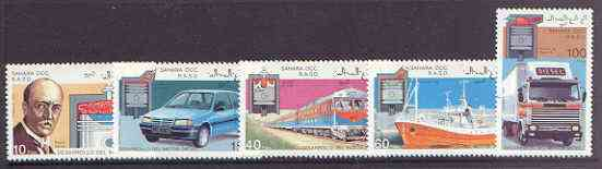 Sahara Republic 1993 Diesel Powered Transport perf set of 5 unmounted mint