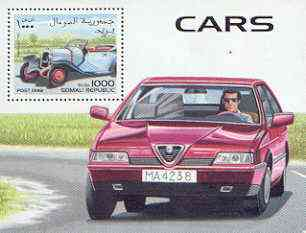 Somalia 1998 Cars perf m/sheet (showing Old & New Alfa Romeo) unmounted mint