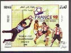Iraq 1998 France 98 Football World Cup imperf m/sheet (horiz) unmounted mint, Mi BL 80