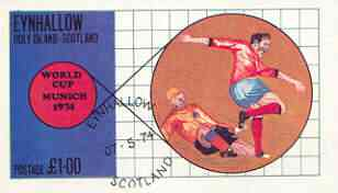 Eynhallow 1974 Football World Cup imperf souvenir sheet (£1 value) cto used