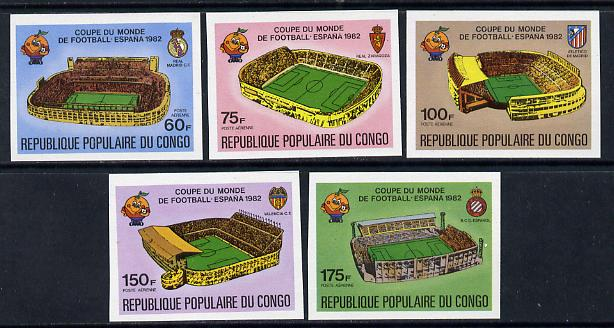 Congo 1980 World Cup Football (Stadia) set of 5 imperf singles unmounted mint (as SG 726-30)
