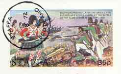 Staffa 1972 Pictorial imperf souvenir sheet (35p value) Argyll & Sutherlands at Battle of Alma cto used
