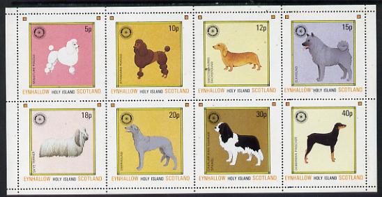 Eynhallow 1984 Rotary - Dogs perf set of 8 values unmounted mint (5p to 40p)