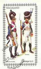 Nagaland 1974 Military Uniforms imperf souvenir sheet (2ch value) Bavarian Soldiers cto used