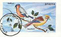 Staffa 1972 Finches imperf souvenir sheet (35p value) cto used