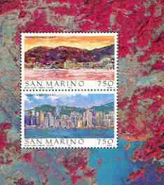 San Marino 1997 Hong Kong 97 Stamp Exhibition perf m/sheet containing 2 values unmounted mint SG MS1590