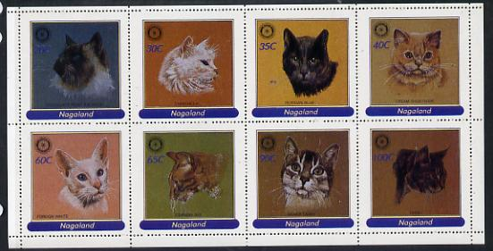 Nagaland 1984 Rotary - Domestic Cats perf set of 8 values (20c to 100c) unmounted mint