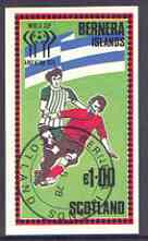 Bernera 1978 Football World Cup imperf souvenir sheet (�1 value) cto used