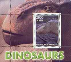 Somaliland 2001 Dinosaurs perf m/sheet #1 containing one value unmounted mint