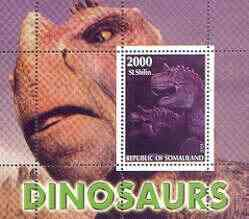 Somaliland 2001 Dinosaurs perf m/sheet #2 containing one value unmounted mint