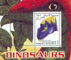 Somalia 2001 Dinosaurs perf m/sheet #1 containing one value (Head only) unmounted mint