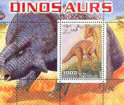 Somalia 2001 Dinosaurs perf m/sheet #2 containing one value unmounted mint