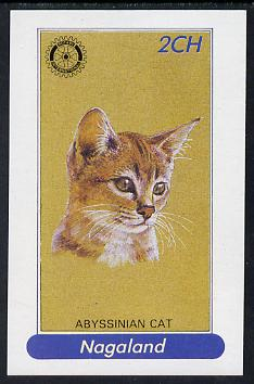 Nagaland 1984 Rotary (Abyssinian cat) 2ch imperf deluxe sheet  unmounted mint