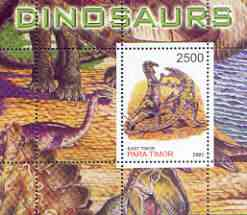 Timor (East) 2001 Dinosaurs perf m/sheet #2 containing one value unmounted mint