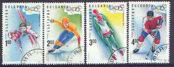 Bulgaria 1994 Lillehammer Winter Olympic Games complete set of 4 fine used, SG 3956-59, Mi 4103-06*