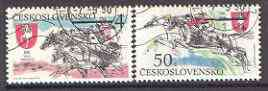 Czechoslovakia 199- Centenary of Pardubice Steeplechase set of 2 fine used, SG 3036-37*
