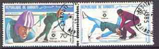 Djibouti 1984 Sarajevo Winter Olympics perf set of two fine used SG 903-04*
