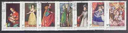 Guinea - Bissau 1984 Espana '84 Stamp Exhibition (Paintings) perf set of 7 very fine used, SG 835-41, Mi 757-63*