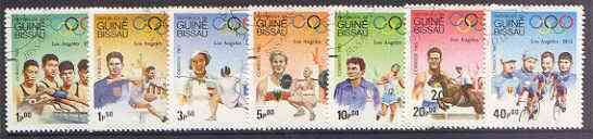 Guinea - Bissau 1983 Los Angeles Olympic Games  (1st Issues) perf set of 7 very fine used, SG 767-73, Mi 690-96*