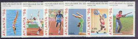 Benin 1996 Atlanta Olympic Games (2nd Issue) complete perf set of 6 values unmounted mint, SG 1347-52