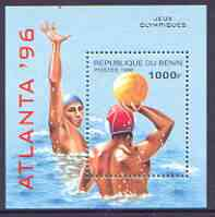 Benin 1996 Atlanta Olympic Games (2nd Issue) perf m/sheet (Water Polo) unmounted mint SG MS 1353