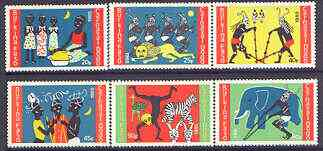 Burkina Faso 1986 Dodo Carnival perf set of 6 unmounted mint, SG 841-46