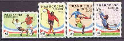 Burkina Faso 1996 Football World Cup perf set of 4 unmounted mint,