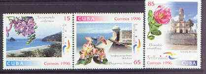 Cuba 1996 Tourism and Flowers perf set of 4 unmounted mint, SG 4092-95
