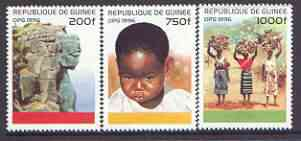Guinea - Conakry 1996 Culture perf set of 3 unmounted mint, SG 1688-90