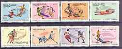 Nicaragua 1981 Football World Cup Championships (1st issue) complete perf set of 8 unmounted mint, SG 2268-75