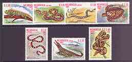 Nicaragua 1982 Reptiles perf set of 7 values unmounted mint, SG 2422-28