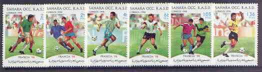 Sahara Republic 1998 World Cup Football complete perf set of 6 values unmounted mint