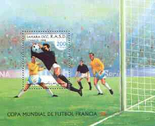 Sahara Republic 1998 World Cup Football perf m/sheet unmounted mint