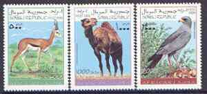 Somalia 1999 African Fauna perf set of 3 values, unmounted mint