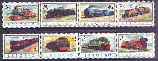 Lesotho 1993 African Railways perf set of 8 unmounted mint, SG 1164-71