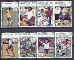 Lesotho 1994 Football World Cup perf set of 8 unmounted mint, SG 1192-99