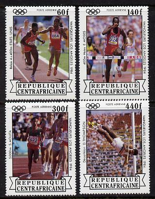 Central African Republic 1985 Olympic Gold Medalists set of 4 unmounted mint (SG 1068-71)