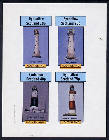 Eynhallow 1982 Lighthouses imperf set of 4 values (10p to 75p) unmounted mint