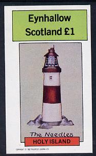 Eynhallow 1982 Lighthouses imperf souvenir sheet (�1 value) unmounted mint