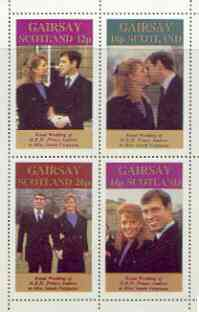 Gairsay 1986 Royal Wedding perf sheetlet of 4, unmounted mint