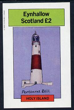 Eynhallow 1982 Lighthouses imperf deluxe sheet (�2 value) unmounted mint