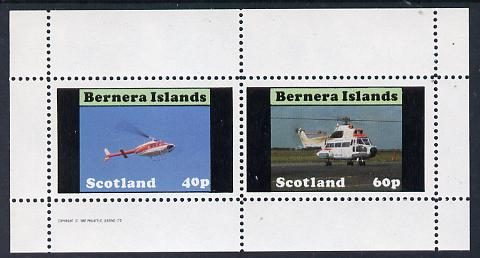 Bernera 1982 Helicopters #2 perf set of 2 values (40p & 60p) unmounted mint