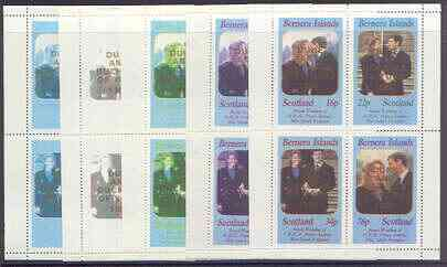 Bernera 1986 Royal Wedding perf sheetlet of 4 opt
