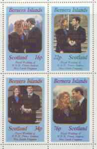 Bernera 1986 Royal Wedding perf set of 4 opt