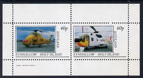 Eynhallow 1982 Helicopters #1 perf set of 2 values (40p & 60p) unmounted mint