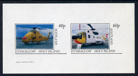 Eynhallow 1982 Helicopters #1 imperf set of 2 values (40p & 60p) unmounted mint