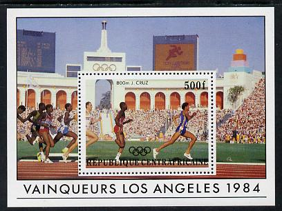 Central African Republic 1985 Olympic Gold Medalists 500f m/sheet (800 metres) SG MS 1072 unmounted mint