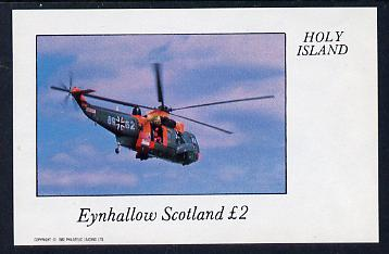 Eynhallow 1982 Helicopters #1 imperf deluxe sheet (�2 value) unmounted mint